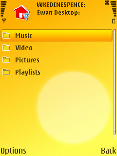 Home Media on N95