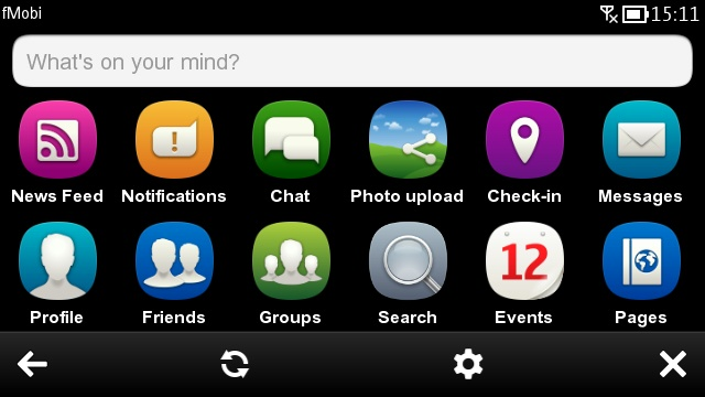 fMobi home screen