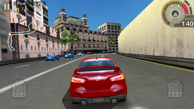 GT Racing HD on the Nokia N8