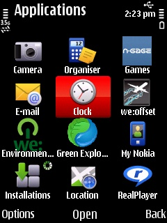 Nokia 5630 Screen