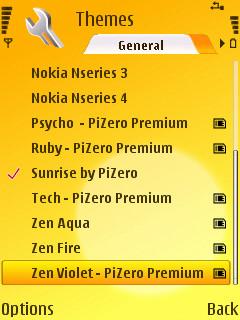 Pizero Theme List